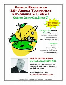 Flyer image - Enfield Republican Town Committee Golf Tournament